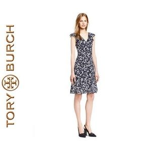 Tory Burch Sapphire Blue Thistle Dress NWOT